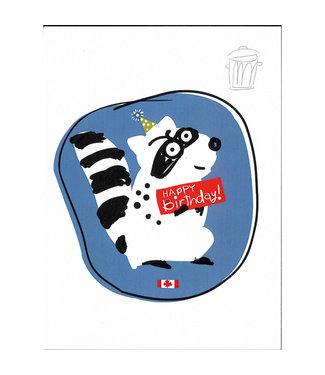 Wendy Tancock Raccoon Birthday  - greeting card