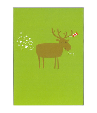 Wendy Tancock Farty Moose  - greeting card