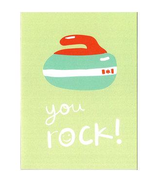 Wendy Tancock Happy Birthday card - Curling - Wendy Tancock