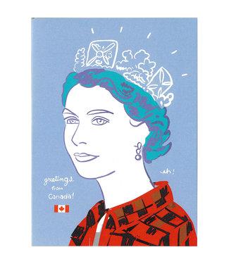 Wendy Tancock Queen Elizabeth in Plaid Card - Wendy Tancock