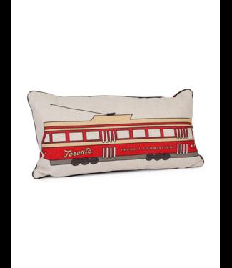 Main and Local Toronto Streetcar Pillow