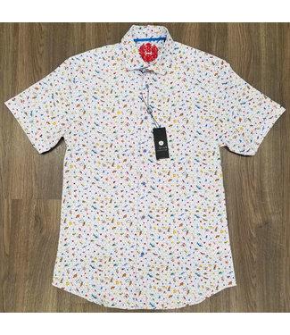 Hörst Short Sleeve Sport Shirt with ocean life