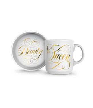 Fred & Friends Howligans - Beauty + Queen - Mug and Bowl set