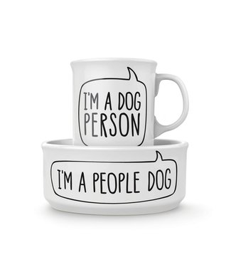 Fred & Friends Howligans - Dog Person Mug and Dog Bowl