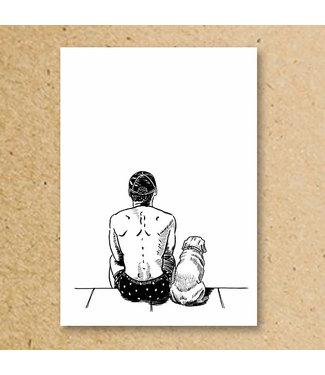 MIVOart Good Boy (dog) Print