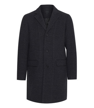 Casual Friday Olli Outerwear Checked Wool Coat