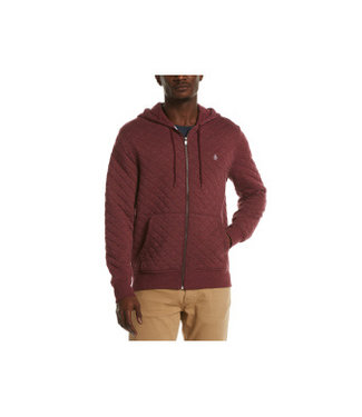 Original Penguin Quilted Full Zip Hoodie