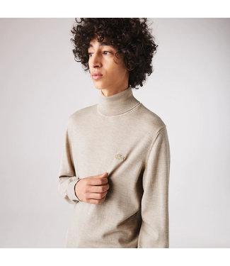 Lacoste Turtleneck Merino Wool Sweater
