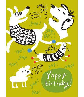 Wendy Tancock Yappy birthday! - greeting card