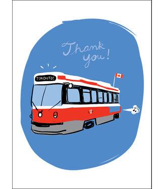 Wendy Tancock Streetcar thank You  - greeting card