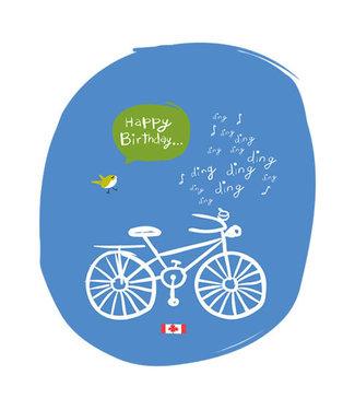 Wendy Tancock Bike Happy Birthday card