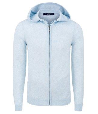 Stone Rose Full zip knitted hoodie