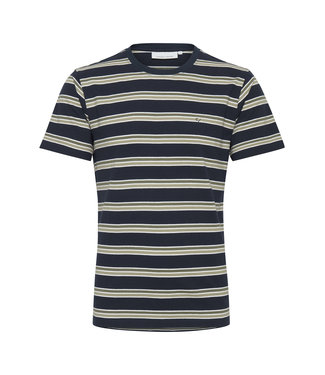 Casual Friday Pique T Shirt with stripes