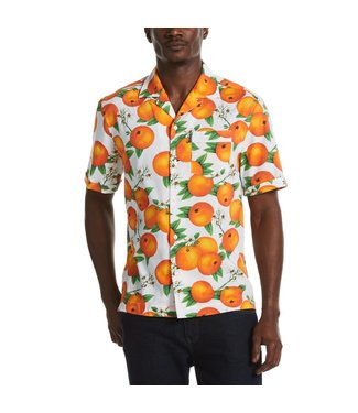 Original Penguin Orange Print Short Sleeve Shirt