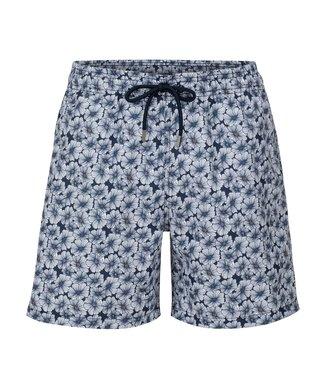 Stone Rose Navy Floral Stretch Swim Shorts