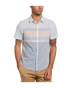 Original Penguin Lawn Engineereed Stripe Shirt