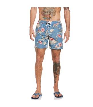 Original Penguin Large Floral Print Swim Shorts