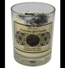 Harmonia Soy Gem Candle - Protection Black Tourmaline