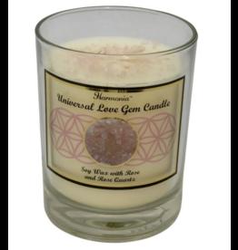 Harmonia Soy Gem Candle - Universal Love Rose Quartz
