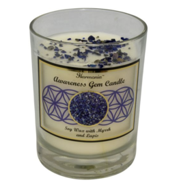 Harmonia Soy Gem Candle - Awareness Lapis