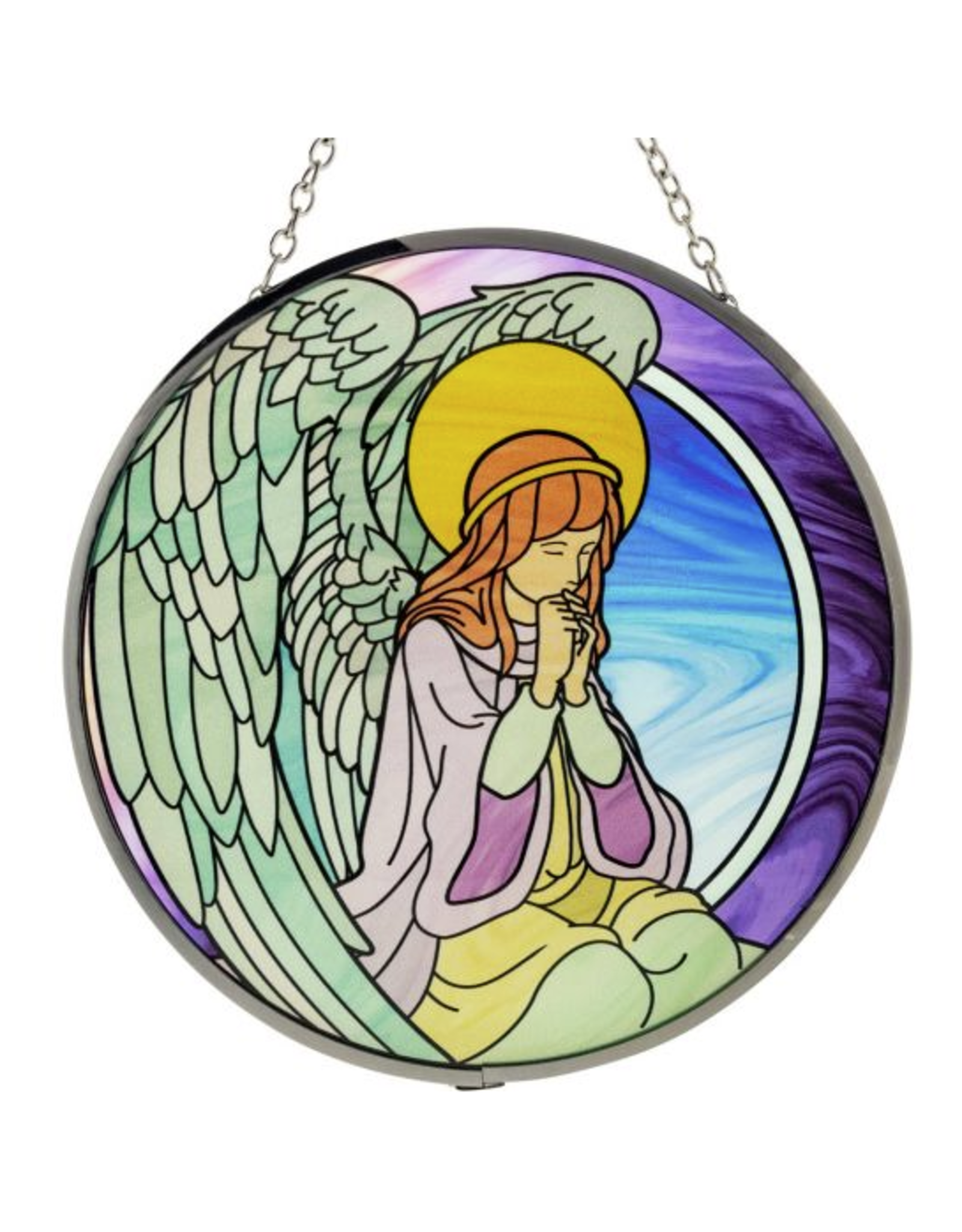Glass Suncatcher 6in - Praying Angel