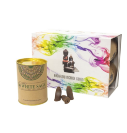 Goloka Backflow Cones - White Sage