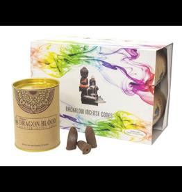 Goloka Backflow Cones Incense - Dragons Blood