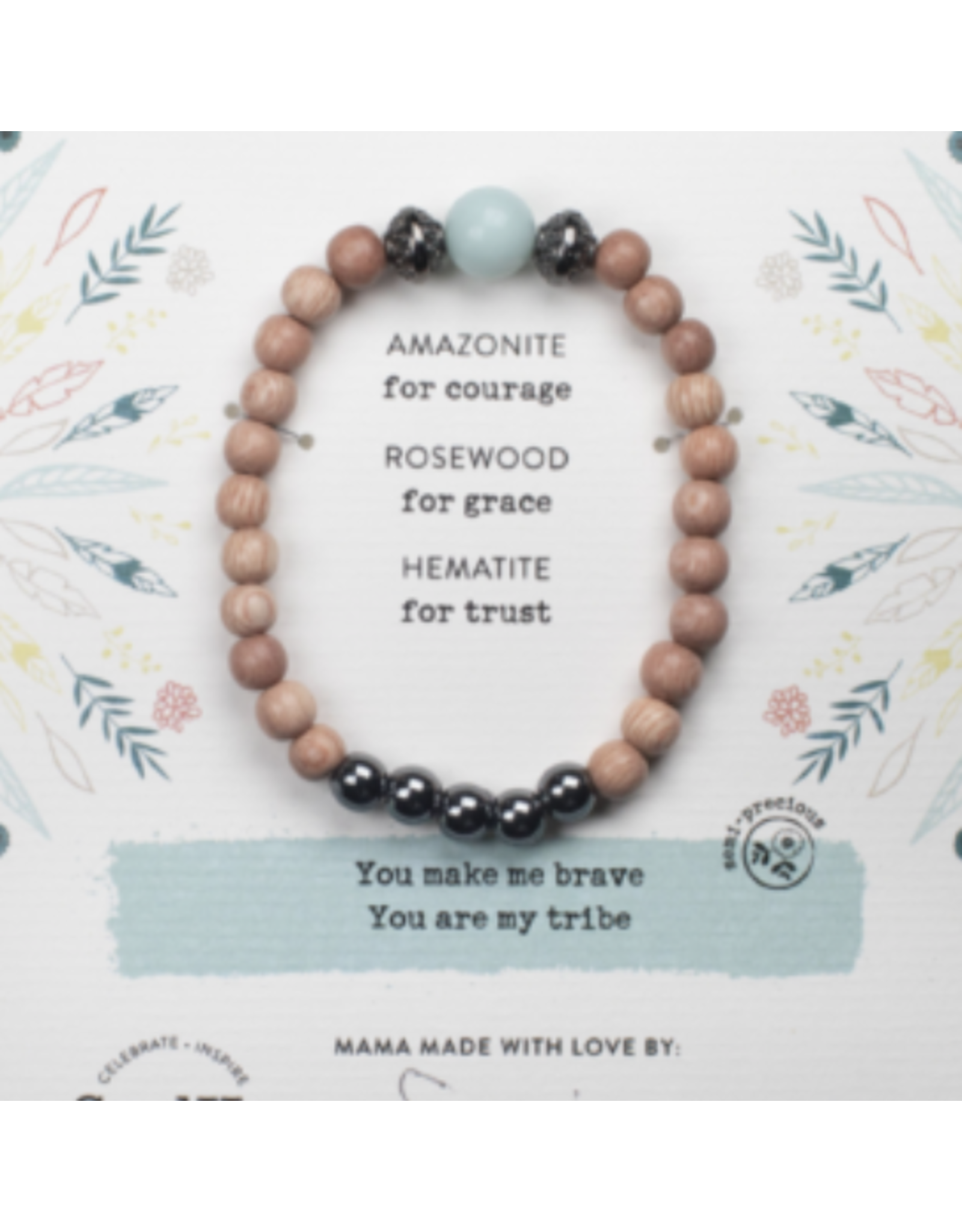AMAZONITE GEMSTONE TRIBE OF COURAGE BRACELET