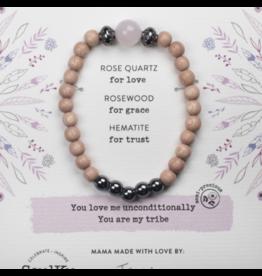 ROSE QUARTZ GEMSTONE TRIBE OF LOVE BRACELET