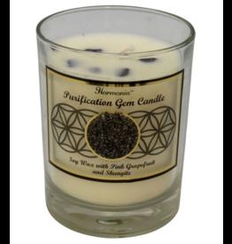 Harmonia Soy Gem Candle - Purification Shungite