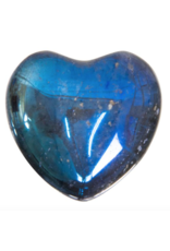 Aura Quartz Heart - Black Rainbow