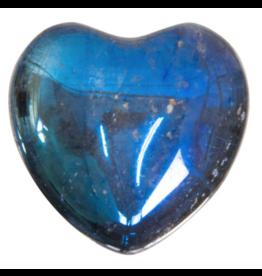 Aura Quartz Heart - Black Rainbow
