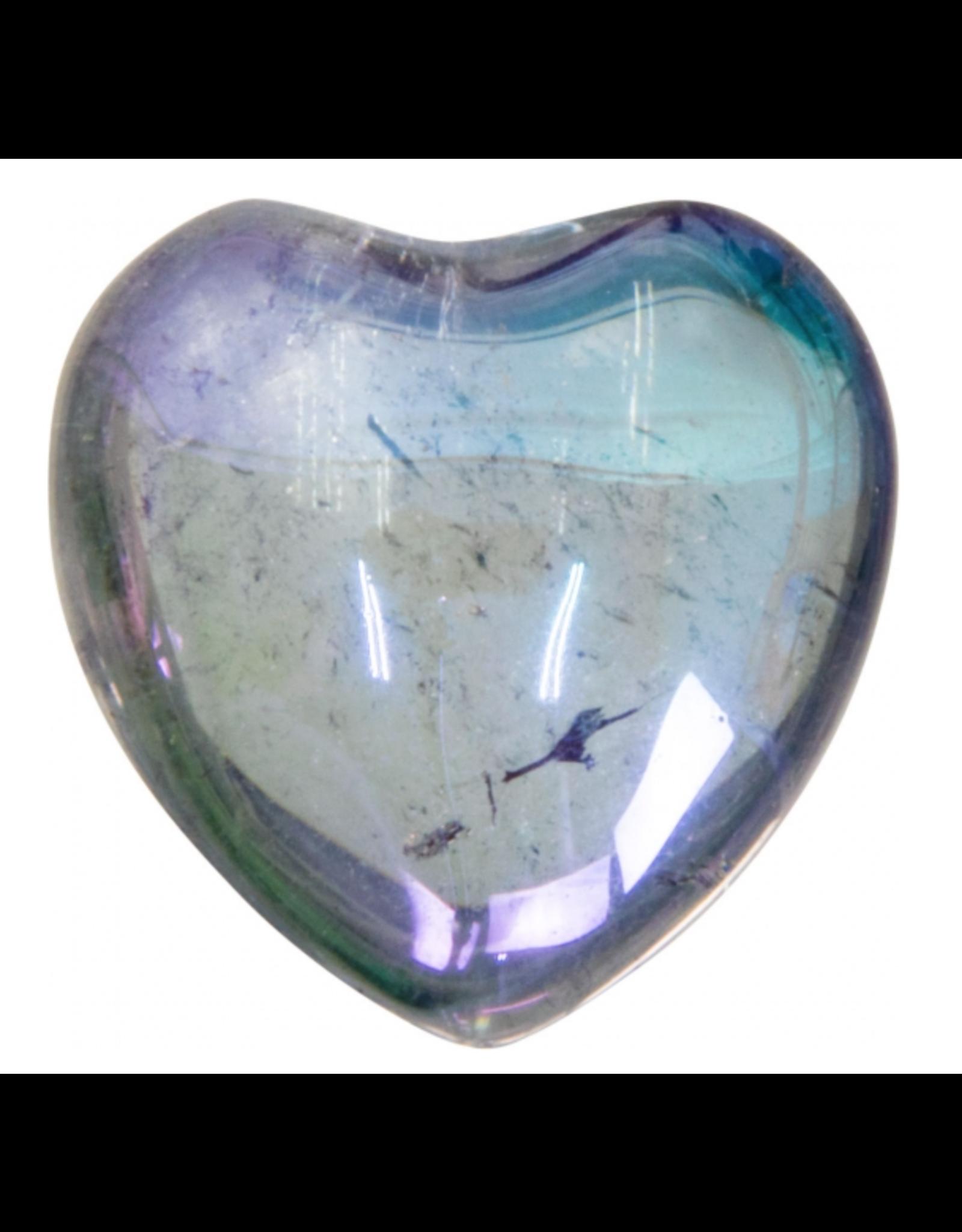 Aura Quartz Heart - Blue