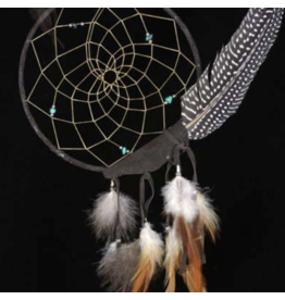 Brown Peaceful Dreamer Dreamcatcher with Spotted Feather