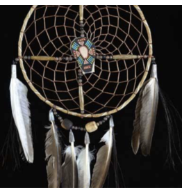 Navajo Spirit Wheel With Black Painted Center (8 Inch)