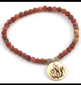 Silver & Sage -Fire Element Bracelet - Gold