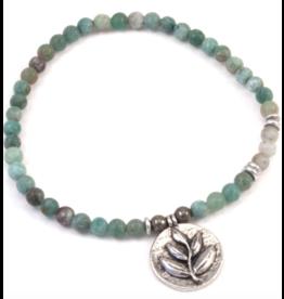 Silver & Sage -Earth Element Bracelet - Silver