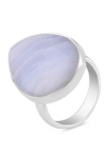 Blue Lace Agate Ring - Adjustable