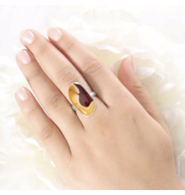 Mookaite Fancy-Cab Ring - Adjustable