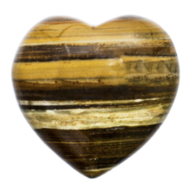 Tiger Eye Heart