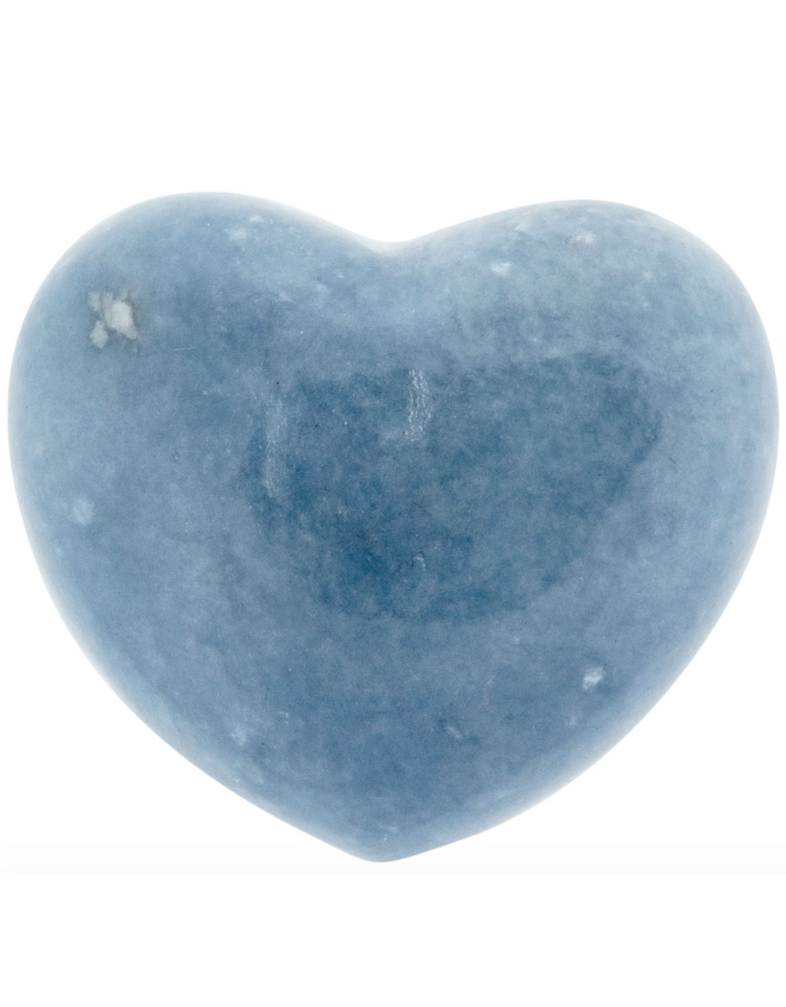Angelite Puffy Heart