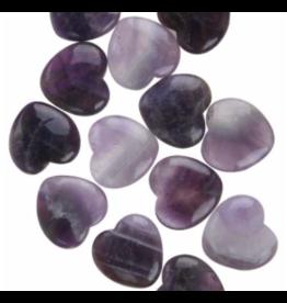 Amethyst Flat Heart Stone