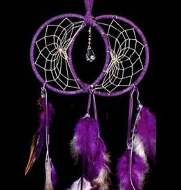 Purple Soul Connection Double Dream Catcher