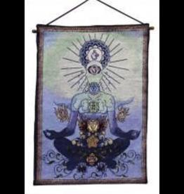 Tapestry Banner/ Wall Hanging Chakra Man Blue