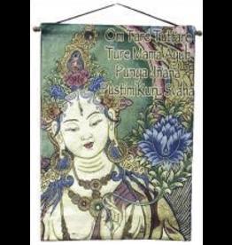 Tapestry Banner/ Wall Hanging  White Tara