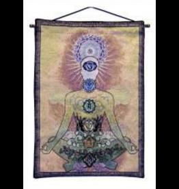 Tapestry Banner/ Wall Hanging Chakra Gold