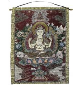 Tapestry Banner/ Wall Hanging Chenrezig