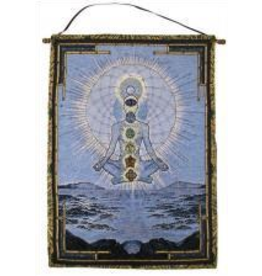 Tapestry Banner/ Wall Hanging Blue