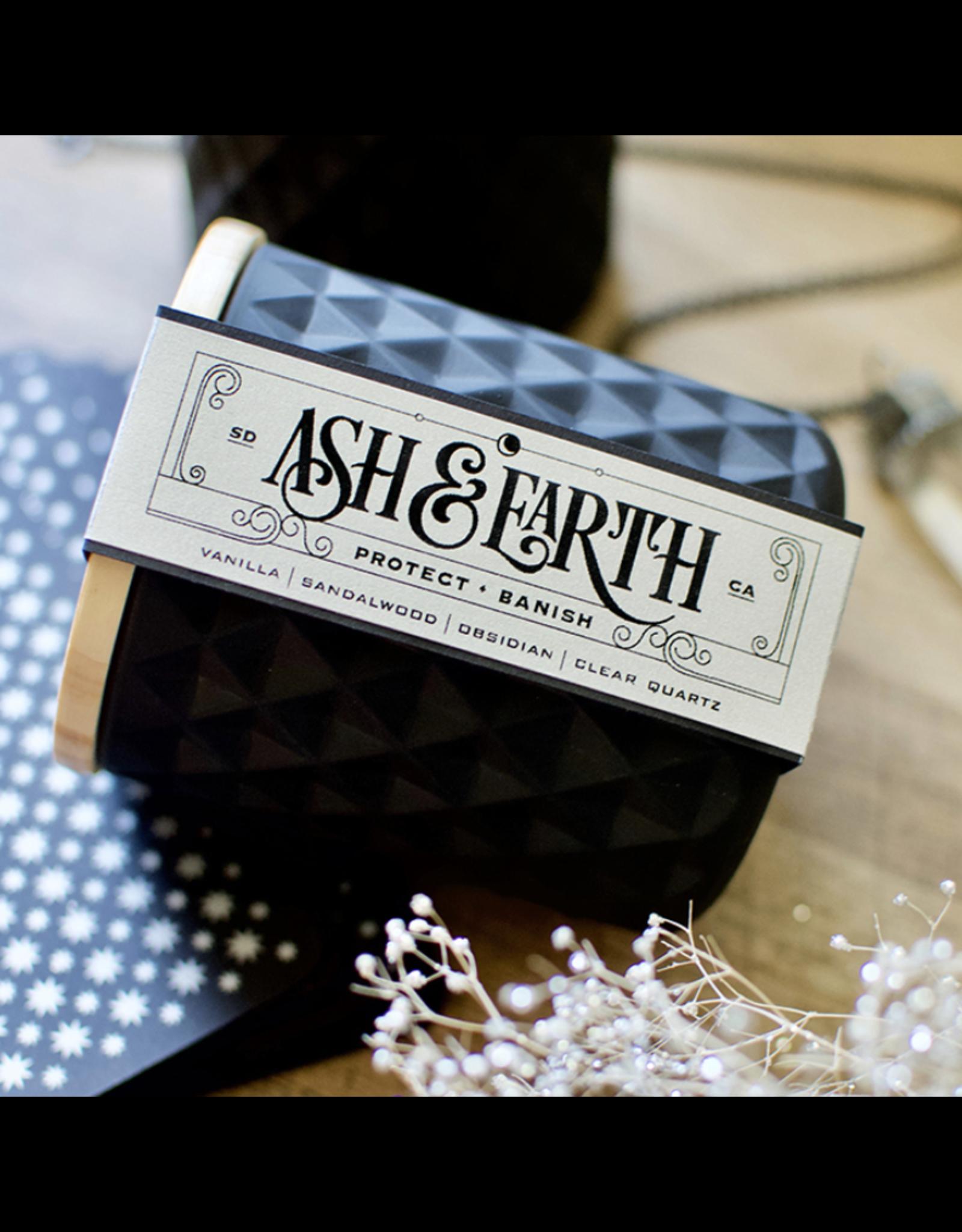 Ash & Earth New Moon Ritual Candle – Protect & Banish
