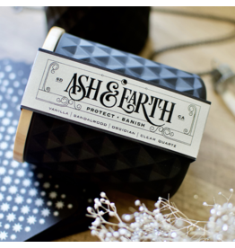 Ash & Earth New Moon Ritual Candle – Protect & Banish